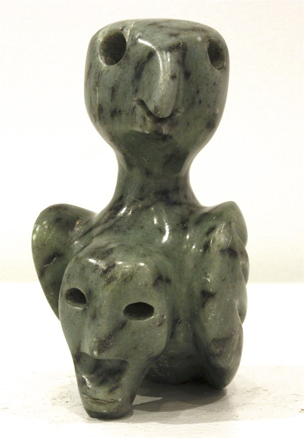 Bird Transformation <br> Floyd Kuptana <br> 5.5 x 4.5 x 3 <br> Soapstone