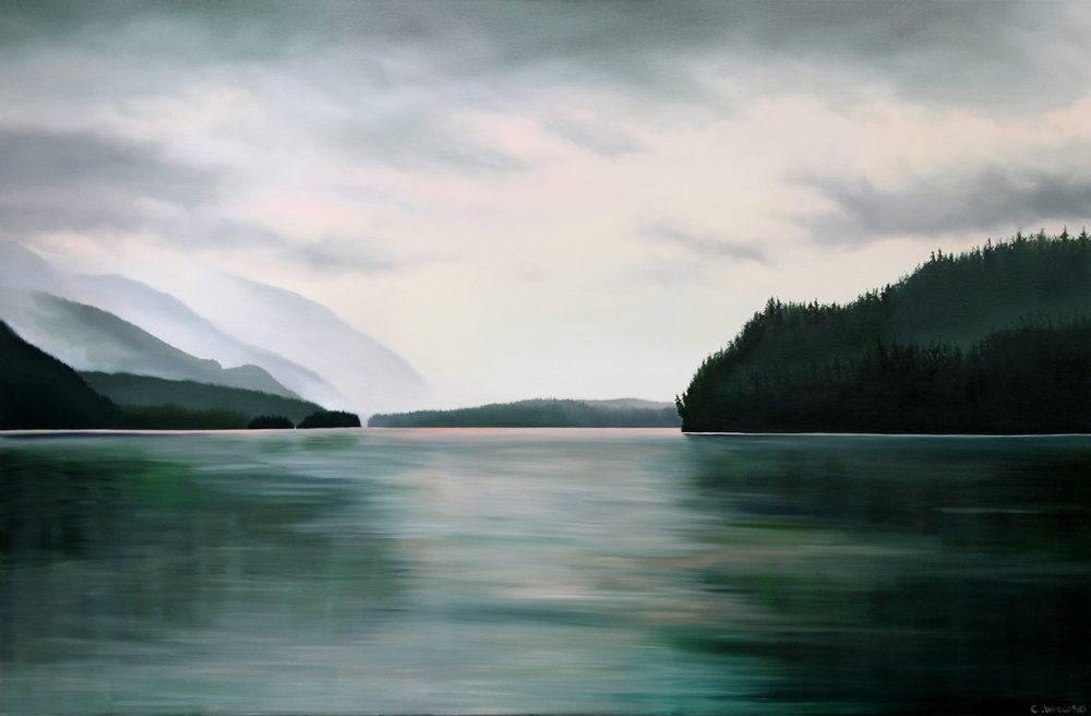 Dawn at phillips head, 40 x 60, oil on canvas