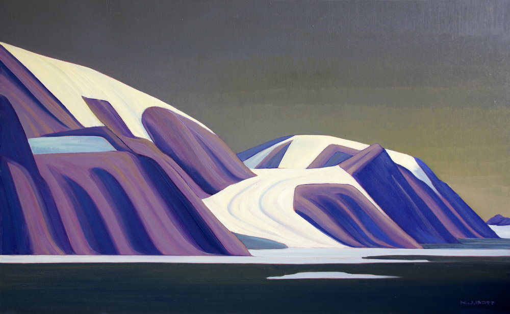 Far northern topography, 30 x 48, oil on canvas.    *SOLD*