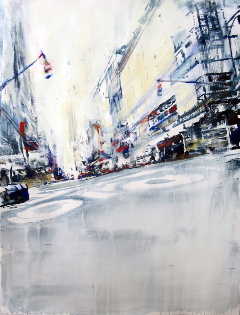 Bike Lane<Br>David Antonides<Br>67 x 53<Br>Watercolour<Br>$ 7500