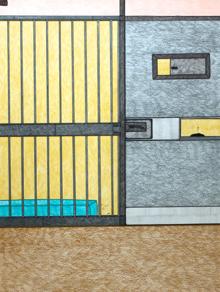 Drunk Tank (191-0550)Nicotye Samayualie30 x 23Coloured Pencil on Paper SOLD