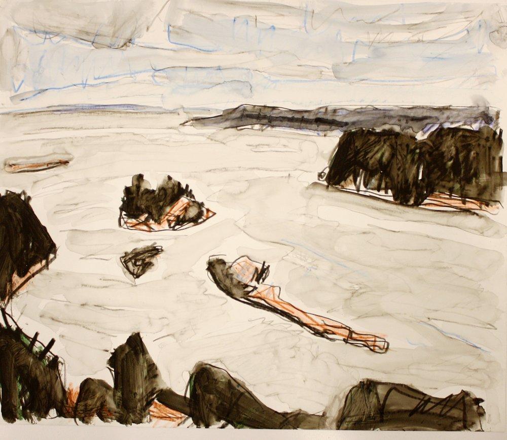 Departure Bay I <br> Barry Hodgson <br> 10 x 12 <br> Pastel on Paper <br> SOLD