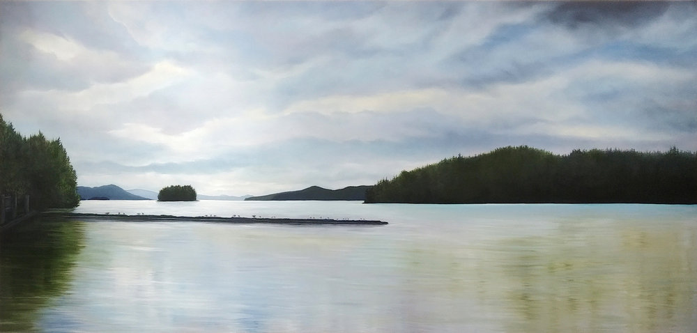 View from Good Hope Cannery <br> 40 x 84 <br> Oil on Canvas <br> SOLD