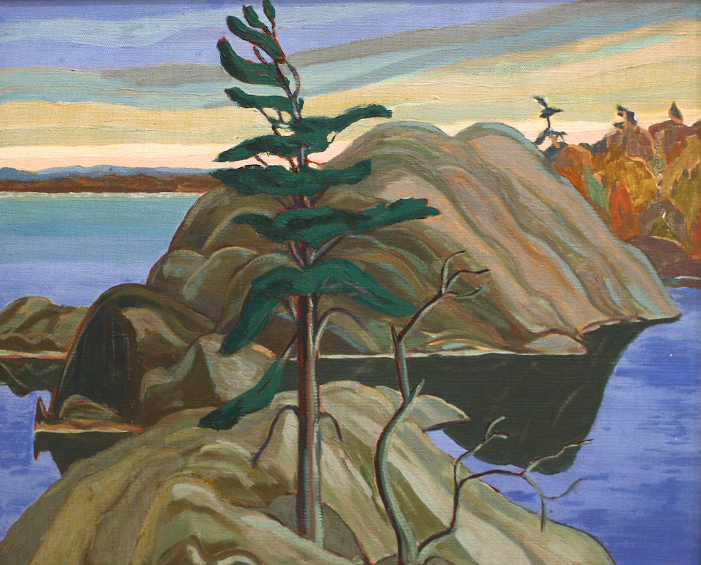Fredrick Banting <br>French River <br> 21 x 26 <br> Oil on Canvas <br> SOLD