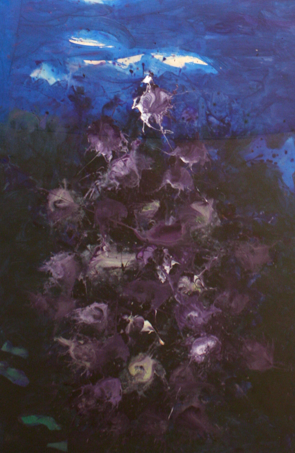 Jack Shadbolt<br>Flowering Bush #13<br>40 x 26<br>Acrylic on Paper<br> 1979
