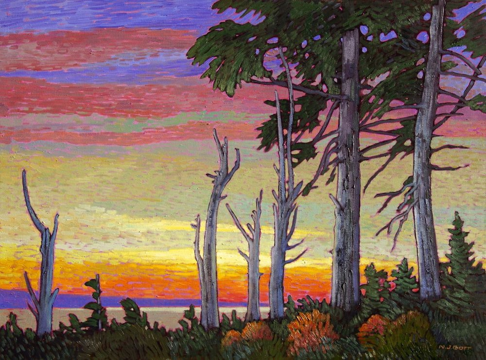 Pacific Evening -Ucluelet<br>30 x 40<br>Oil on Canvas<br>$ 6550