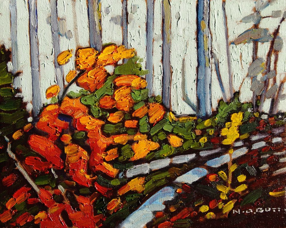Last of October Colours<br>8 x 10<br>Oil on Canvas<br>SOLD