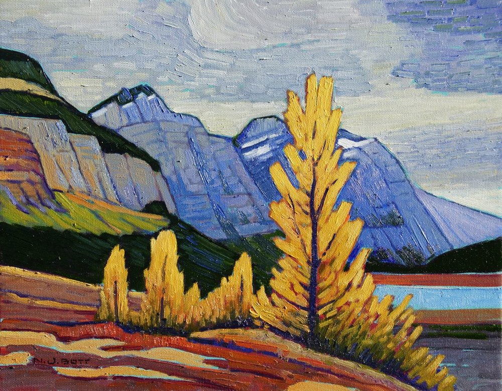 Athabasca River Valley<br>11 x 14<br>Oil on Canvas<br>SOLD