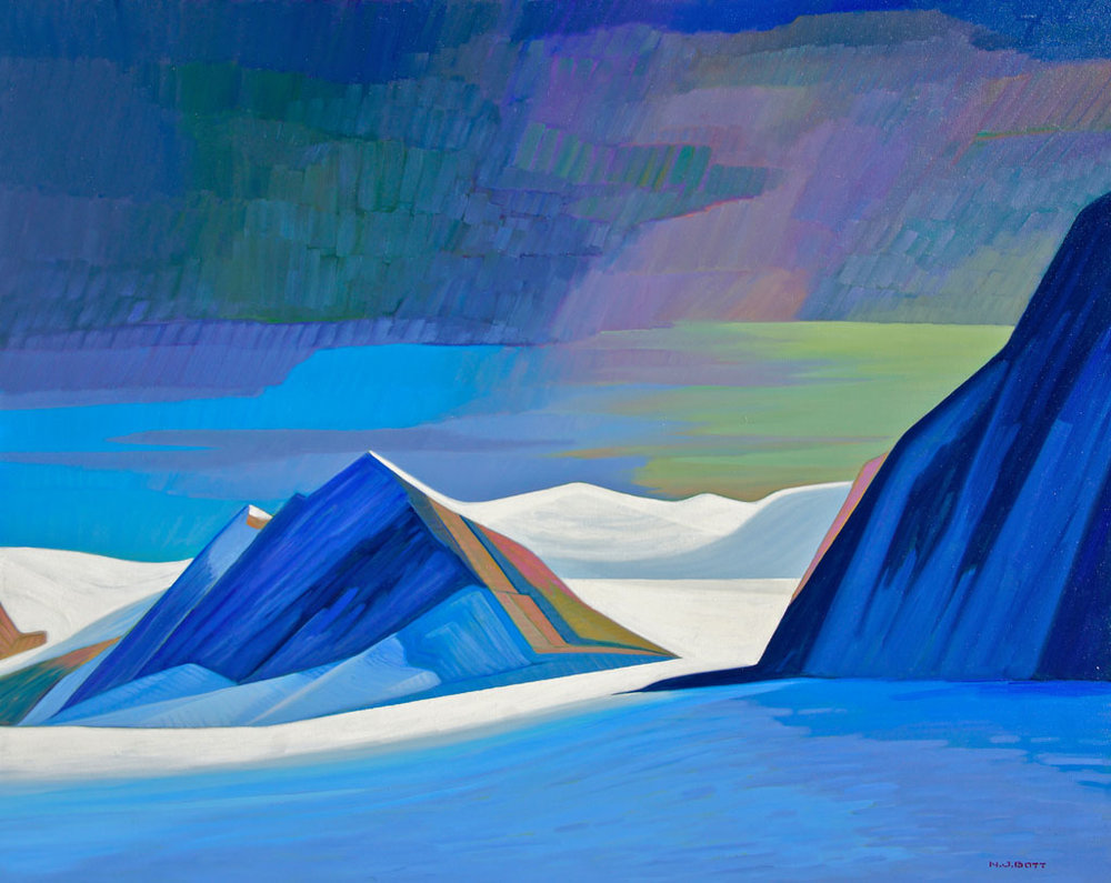 Looming Arctic Storm<br>48 x 60<br>Oil on Canvas<br>SOLD
