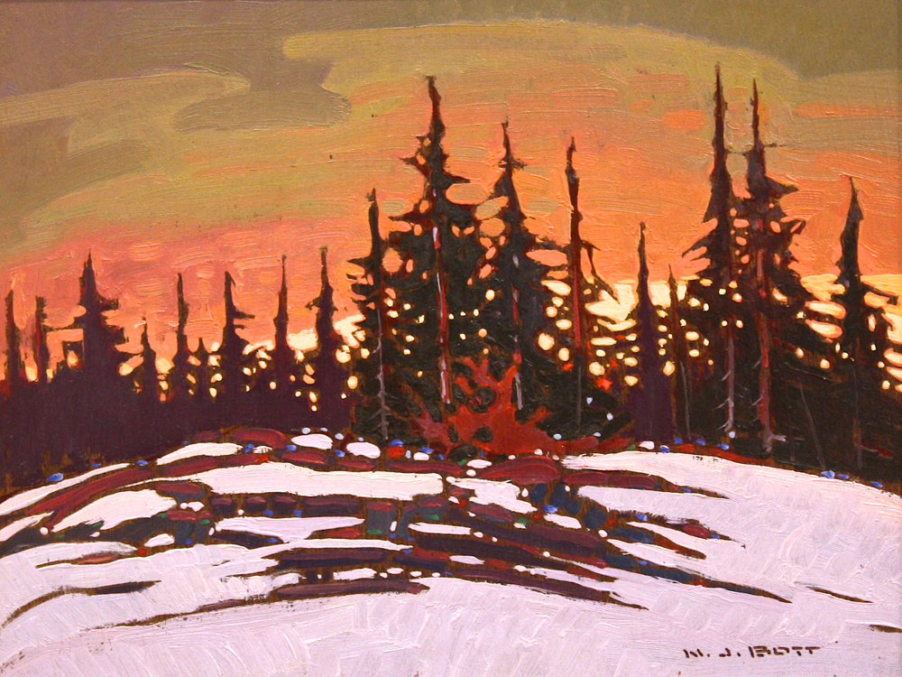 Northern B.C.<br>8 x 10<br>Oil on Board<br>SOLD