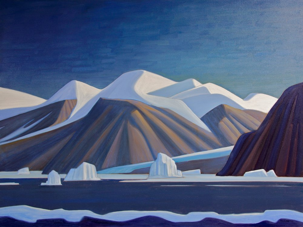 Icebergs - Ellesmere Island<br>36 x 48<br>Oil on Canvas<br>SOLD