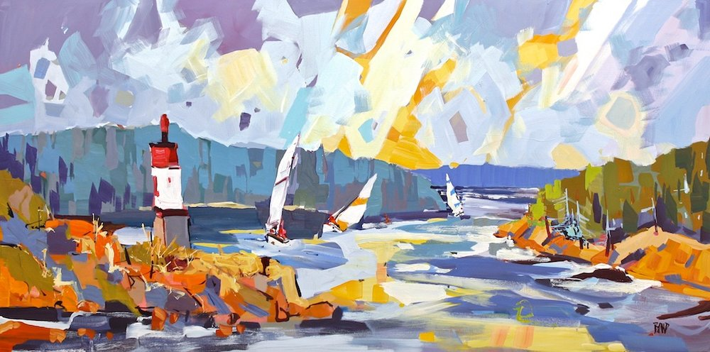 Poet's Cove<Br>30 x 60<Br>Acrylic on Canvas<Br>$ 4850