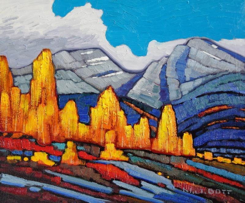 Golden Aspen<Br>10 x 12<Br>Oil on Canvas<Br>$ 1550