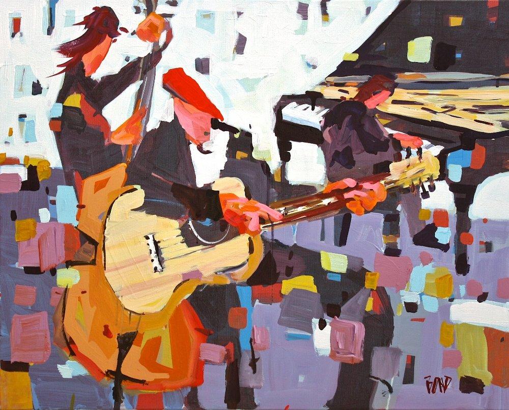 Ballad Blues<Br>24 x 30<Br>Acrylic on Canvas<Br>$ 3000