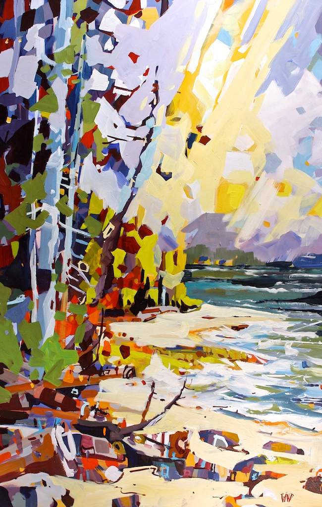Galiano<Br>60 x 40<Br>Acrylic on Canvas<Br>$ 6400