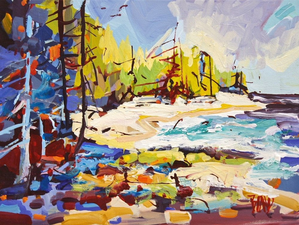 Galiano Light<Br>12 x 16<Br>Acrylic on Canvas<Br>SOLD