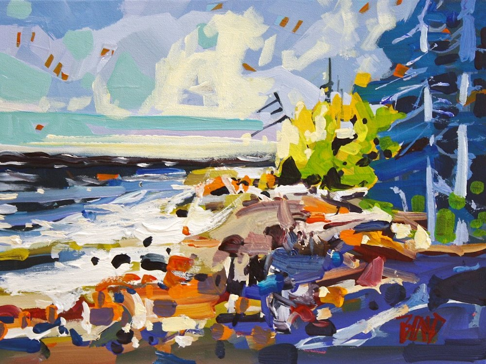 Island Shores<Br>12 x 16<Br>Acrylic on Canvas<Br>SOLD
