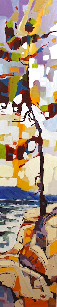 Saltspring Sentinel<Br>60 x 12<Br>Acrylic on Canvas<Br>$ 3100
