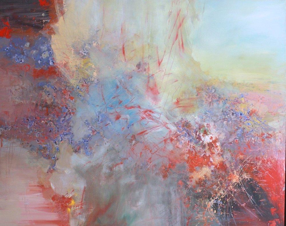 Anton Bruckner, Motet, Os Justi  58 x 47  Acrylic on Canvas  SOLD