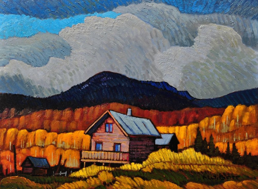 Kispiox Valley  12 x 16  Oil on Canvas  SOLD