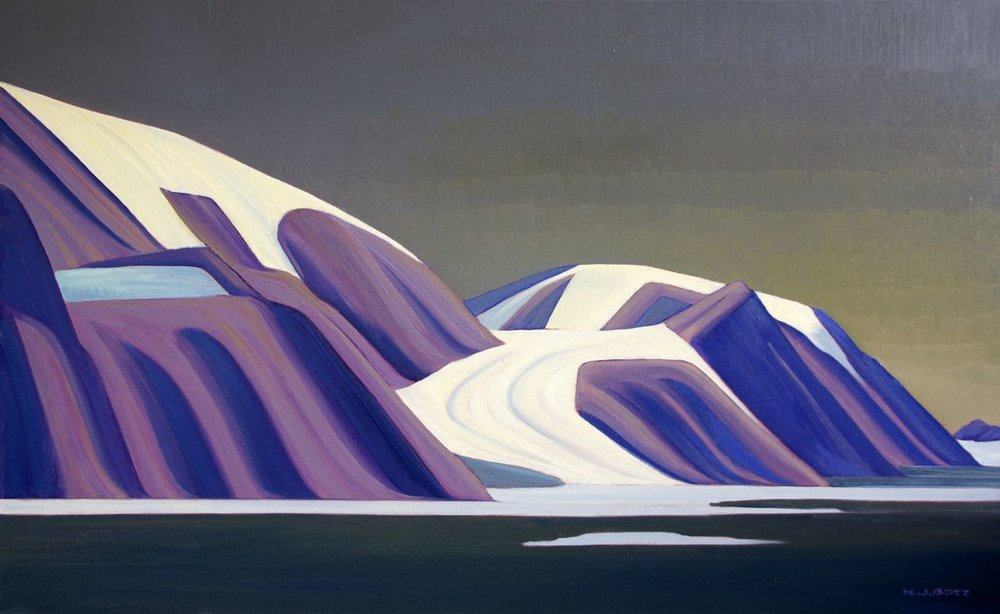 Far Northern Topography  30 x 48  Oil on Canvas  SOLD