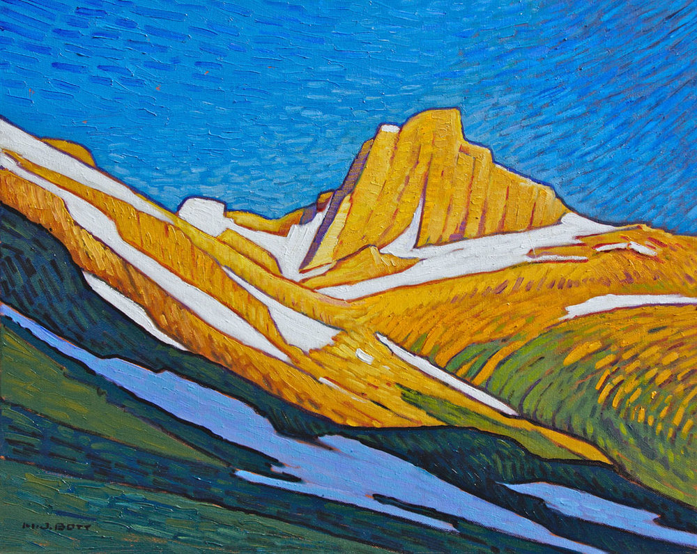 Bright Mountain Light  16 x 20  Oil on Canvas  SOLD