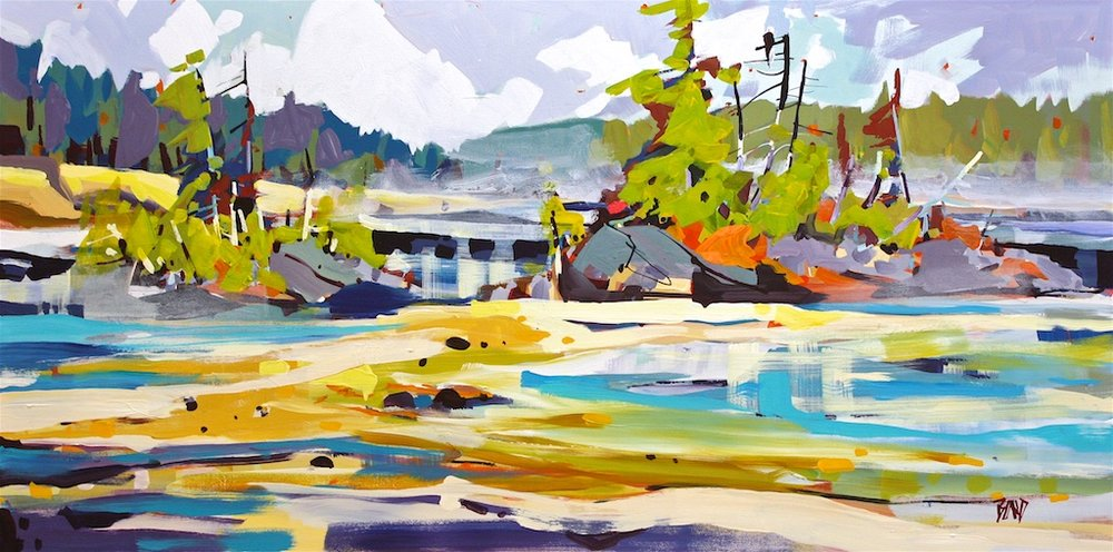 Low Tide<Br>24 x 48<Br>Acrylic on Canvas<Br>$ 3700