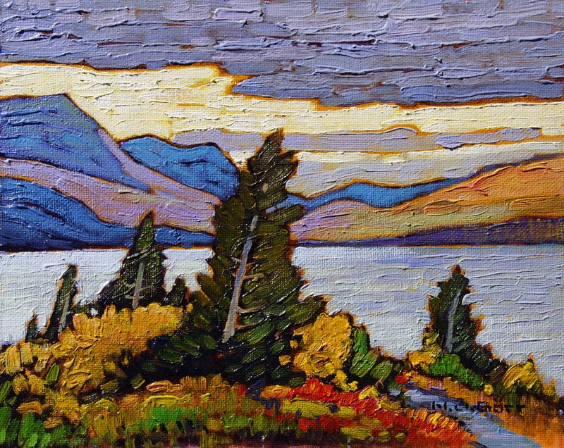 Fraser Lake<Br>8 x 10<Br>Oil on Board<Br>$ 1090