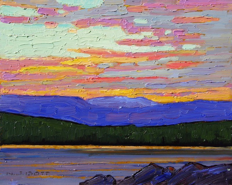 Summer Evening<Br>8 x 10<Br>Oil on Board<Br>SOLD