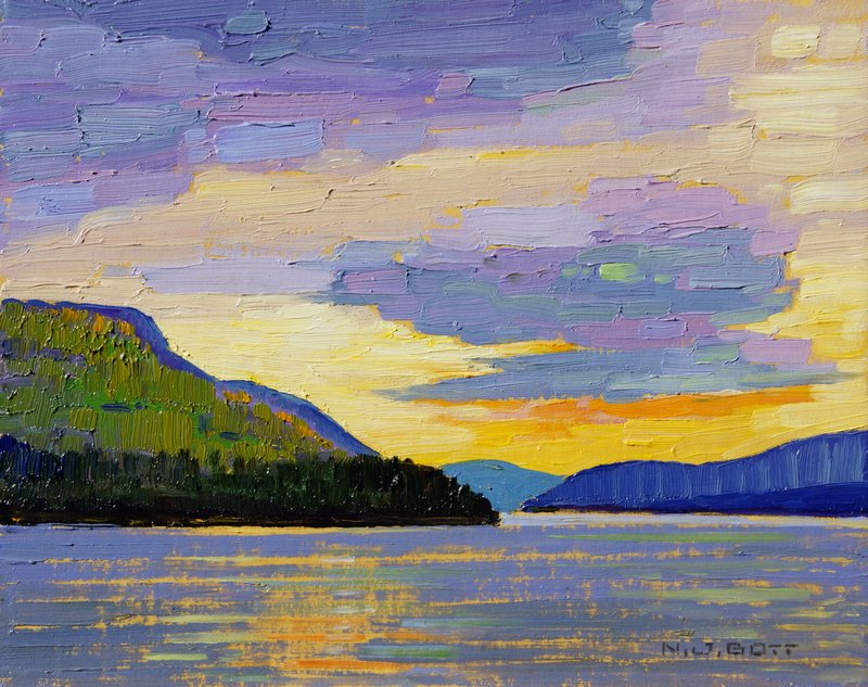 Sky in Color<Br>8 x 10<Br>Oil on Board<Br>SOLD
