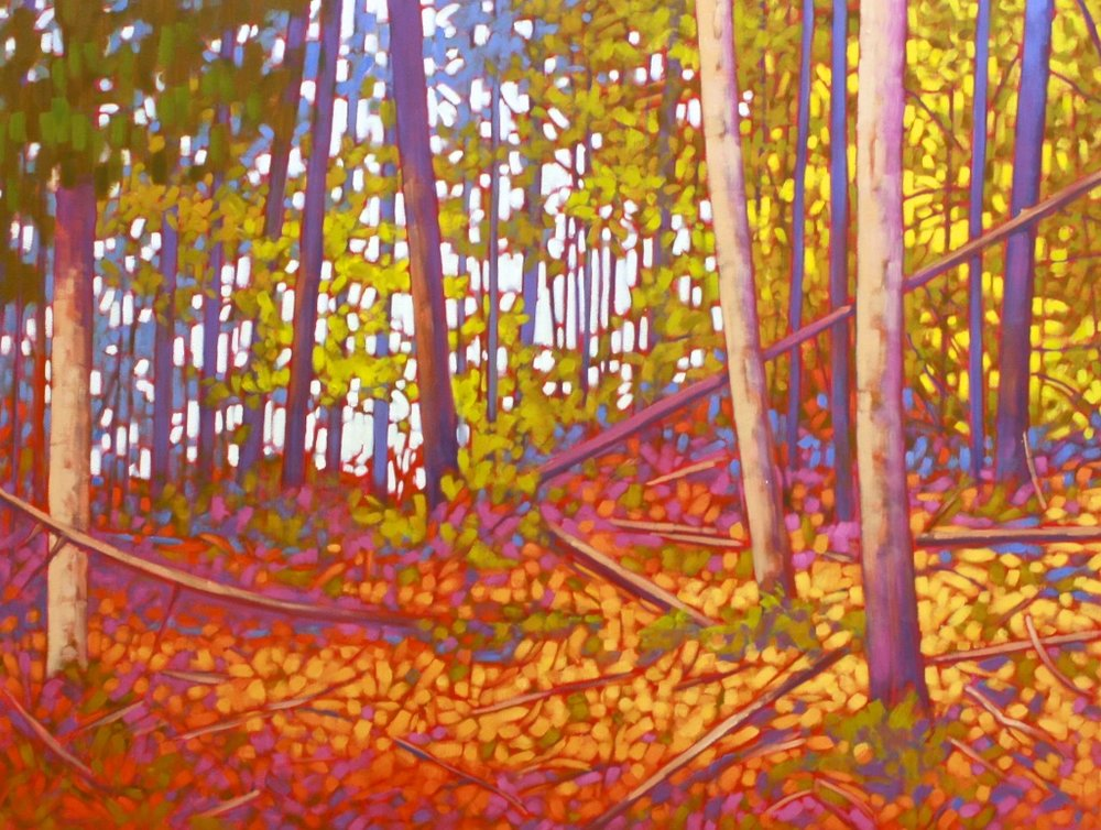 John Lennard <Br> B.C. Forest <Br> 30 x 40<Br>Oil on Canvas<Br>$ 3200