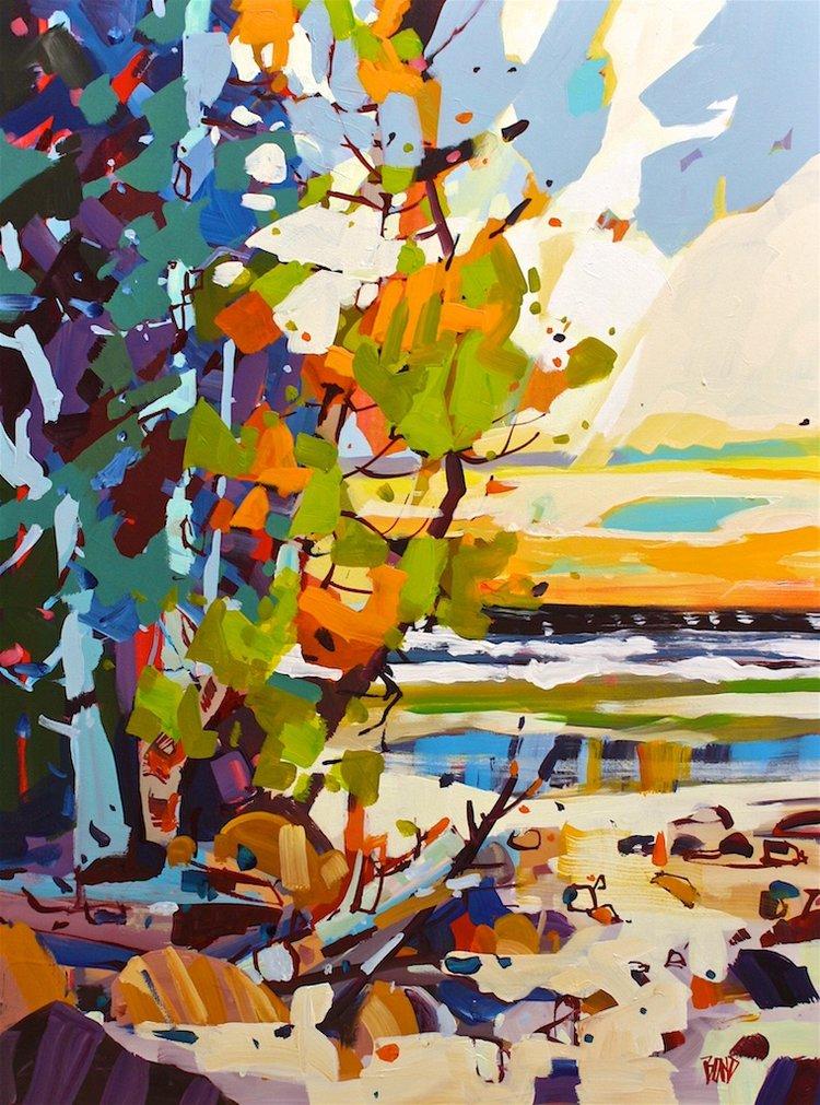 Rick Bond <Br> An Ocean Pool <Br>40 x 30 <Br>Acrylic on Canvas<Br> $ 3800