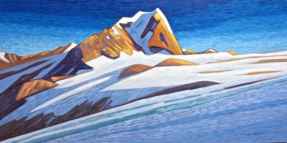Nicholas Bott<br>Lofty Mount Creswell<br>18 x 36<br>Oil on Canvas<br>$ 4250