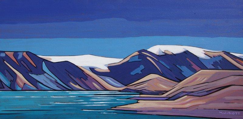 Nicholas Bott <br> Far Northern Essence <br> 18 x 36 <br> Acrylic on Canvas <br> $4250