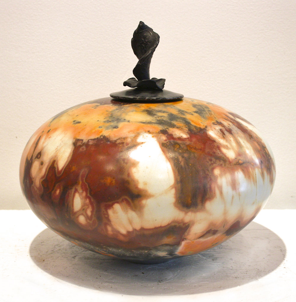 Vessel # 29 <br> 11 x 11 x 11 <br> Saggar - Fired Ceramic <br> SOLD