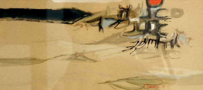 The Space between Sun and Sea (1959)<br>10 x 22<br>Casen on Paper<br>Available