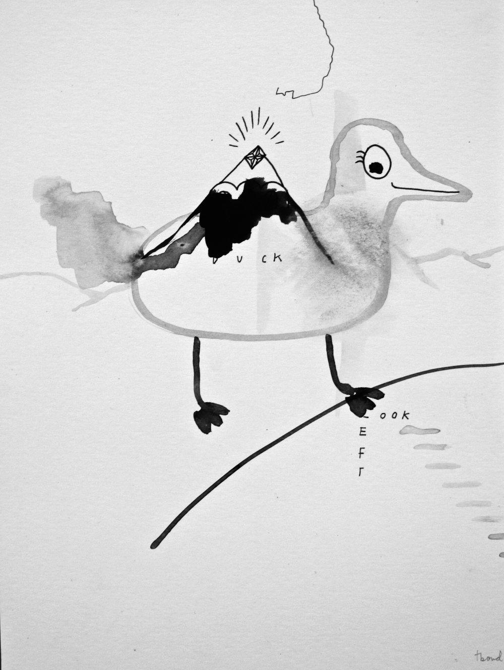 Tamara Bond <br> Untitled <br> 12 x 9 <br> Ink on Paper <br> $ 550