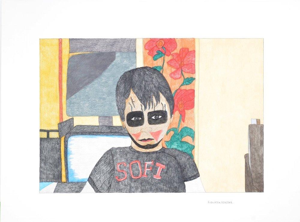 Kuduajuk Ashoona <br> Untitled <br>23 x 30 <br> Coloured Pencil on Paper <br> $1150