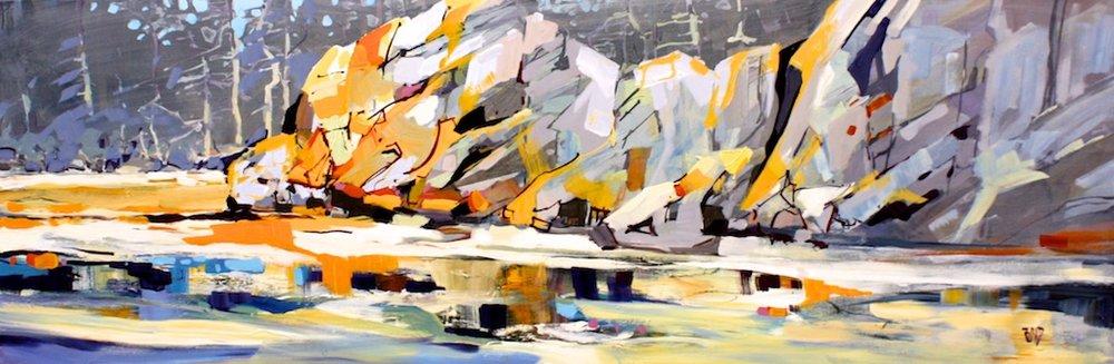 Rick Bond <br>West Beach<br> 20 x 60 <br>Acrylic on Canvas <br>$ 3900