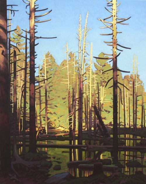Clayton Anderson <Br> Cedar Pond <Br>30 x 24 <Br>Acrylic on Canvas<Br> $ 4500