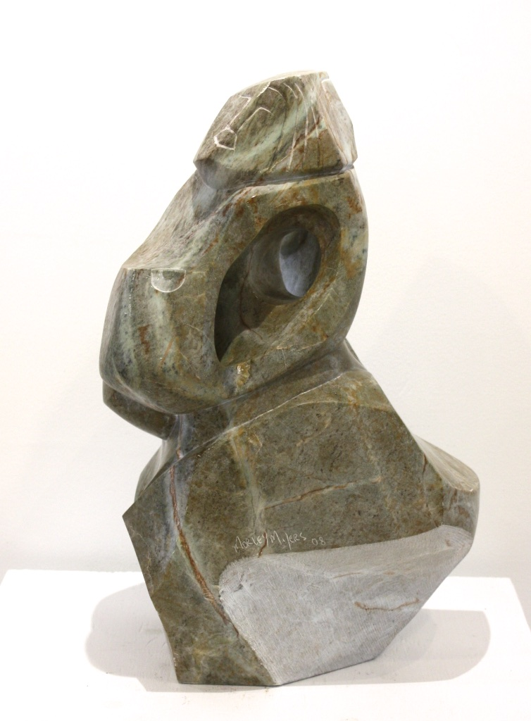 Of Two Minds<br>19 x 13 x 12<br>Soapstone<br>$ 4500<br>Side View