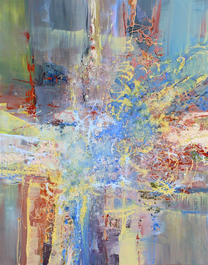 D. Shostakovich, String Quartet No. 8, Largo<Br>60 x 48<Br>Acrylic on Canvas<Br>$ 5400