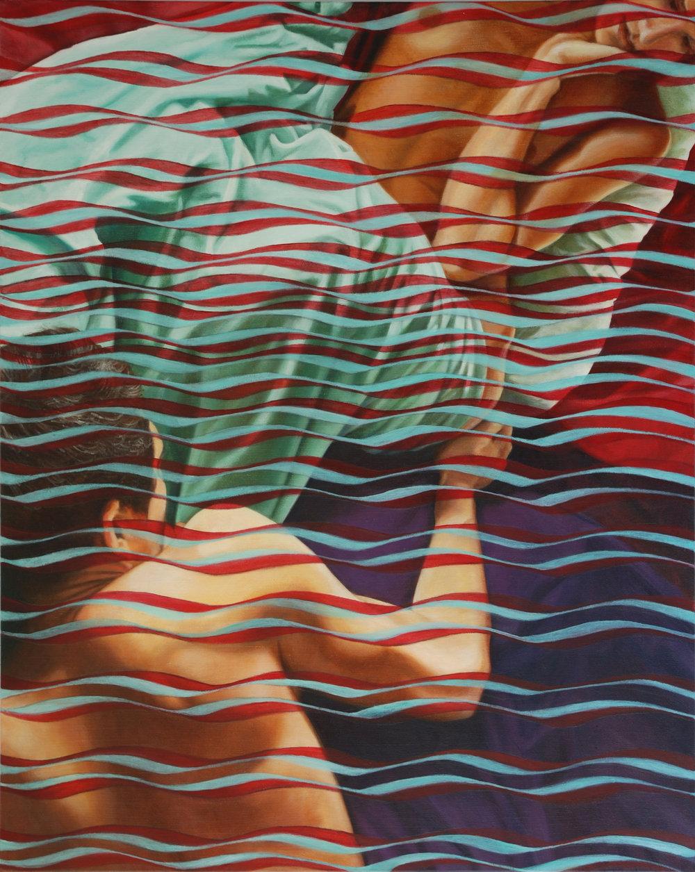 As Through a Veil<Br>30 x 24<Br>Oil on Canvas<Br>$ 2900