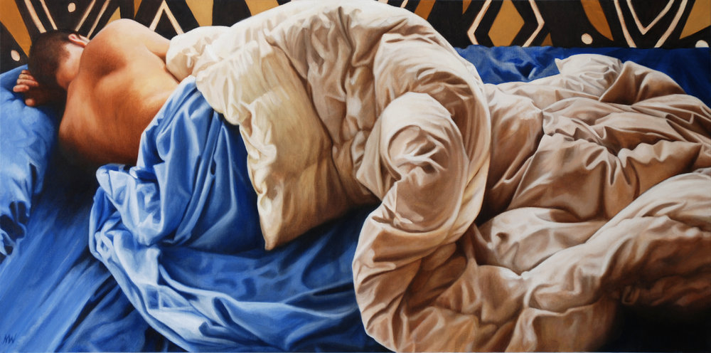 I Dream of Guinea<Br>24 x 48<Br>Oil on Canvas<Br>$ 4500