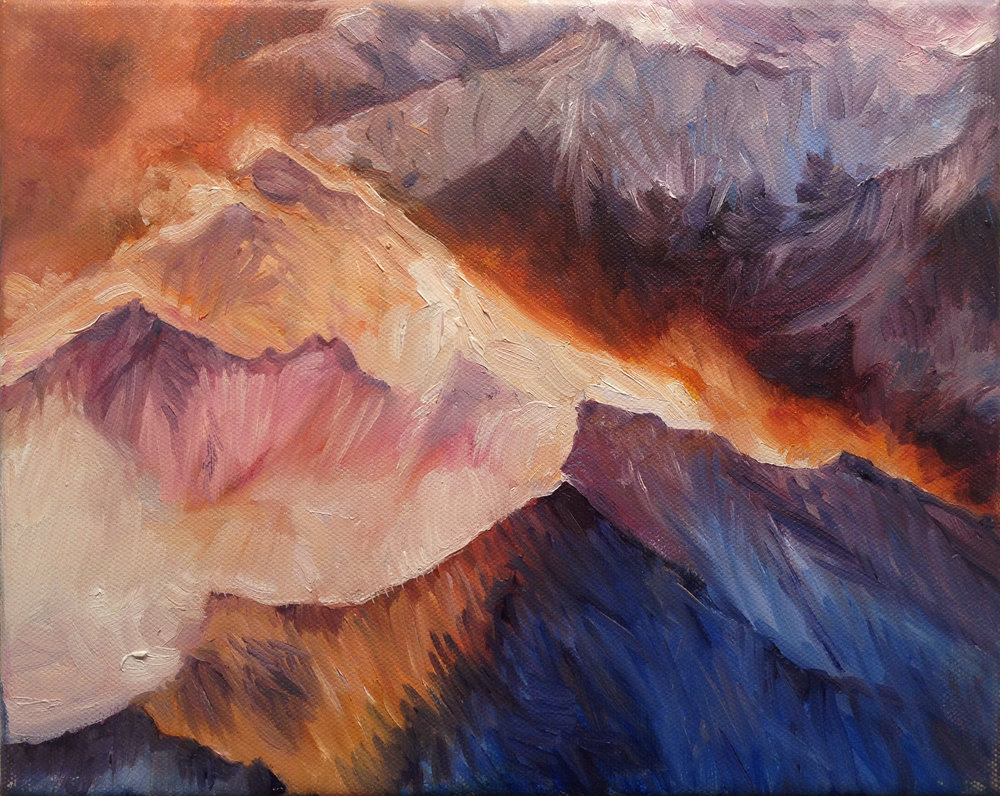 Mountain Sketch<Br>8x10<Br>Oil on Canvas<Br>$ 725