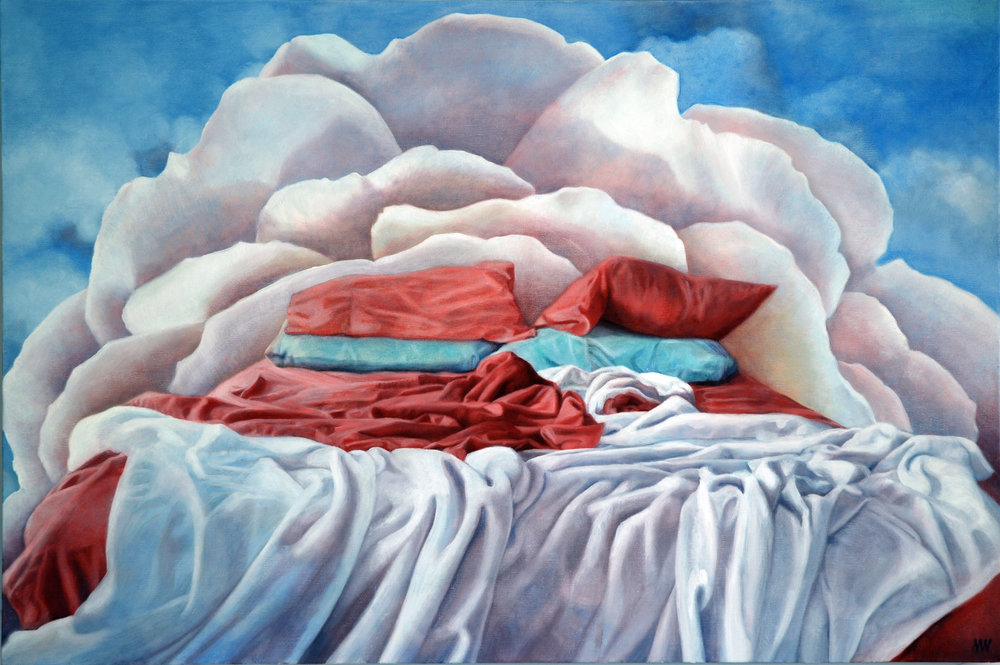 Rest, Rest, a Perfect Rest<Br>24 x 36<Br>Oil on Canvas<Br>$ 3400