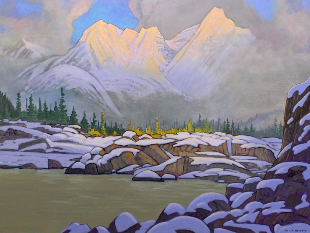Mountain Light     36 x 48    Oil on Canvas      $ SOLD