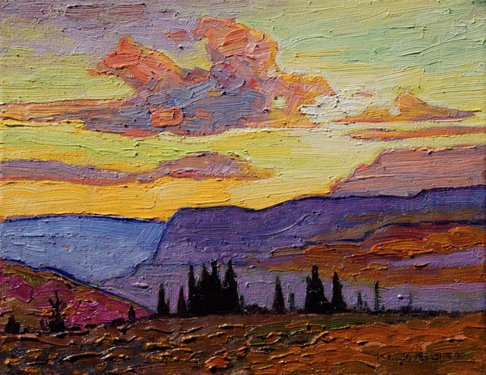 June Sunrise, 8x10, Oil on Canvas, $1350