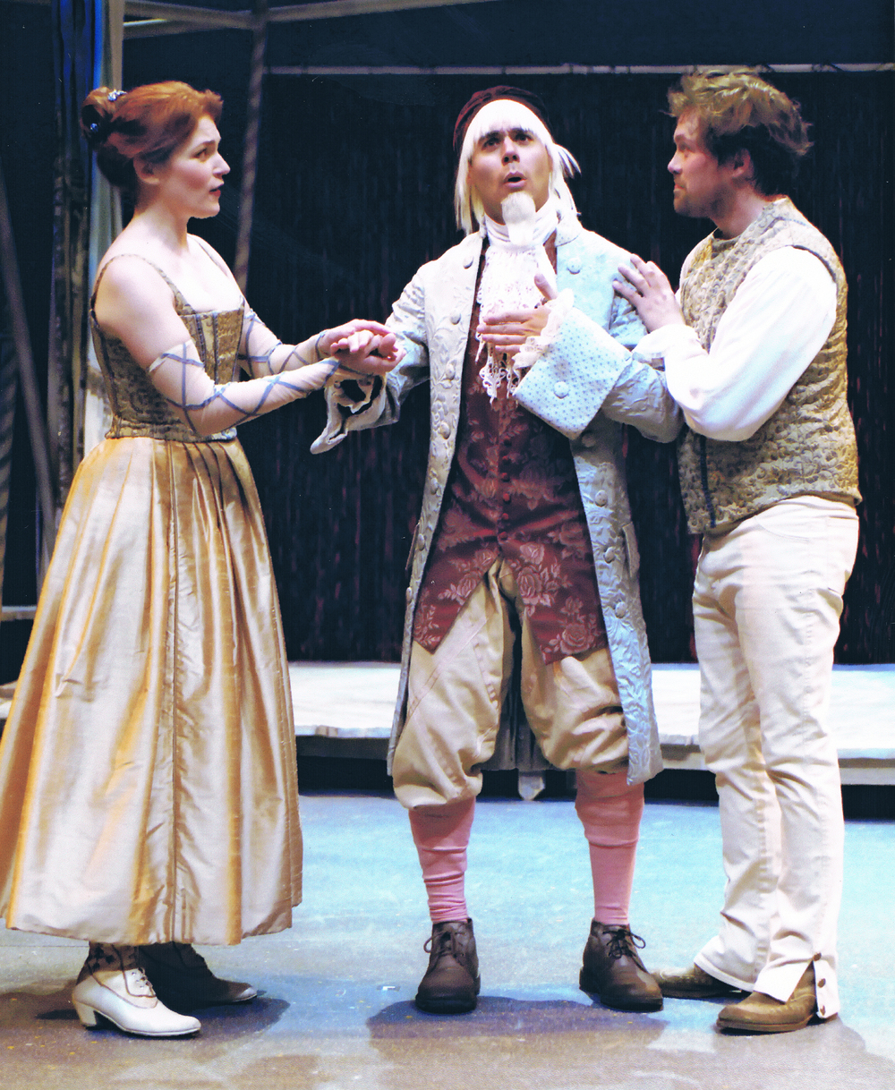 """Vincentio"" in THE TAMING OF THE SHREW with Molly Glynn and Ben Viccellio"