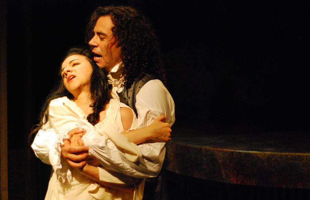 """Heathcliff"" in WUTHERING HEIGHTS with Lindsay Leopold Photo by Paul Metreyeon"
